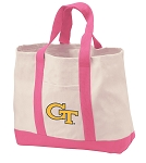 Georgia Tech Tote Bags Pink