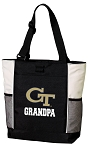 Georgia Tech Grandpa Tote Bag White Accents