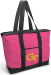 Deluxe Pink Georgia Tech Tote Bag