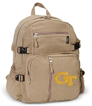 Georgia Tech Canvas Backpack Tan
