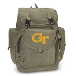 Georgia Tech LARGE Canvas Backpack Olive