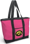 Deluxe Pink University of Iowa Tote Bag
