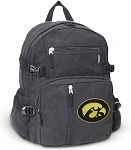 University of Iowa Canvas Backpack Black