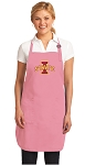 Deluxe Iowa State Apron Pink - MADE in the USA!