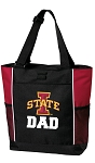 Iowa State Dad Tote Bag Red