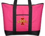 Deluxe Pink Iowa State Tote Bag
