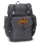 Iowa State LARGE Canvas Backpack Black