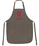 Indiana University Dad Deluxe Apron Khaki