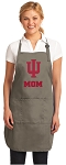 Indiana University Mom Deluxe Apron Khaki