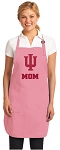 Indiana University Mom Apron Pink - MADE in the USA!