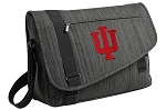 IU Indiana University Messenger Laptop Bag Stylish Charcoal
