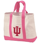 Indiana University Tote Bags Pink