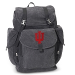 IU Indiana University LARGE Canvas Backpack Black