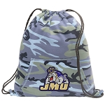 JMU Drawstring Backpack Blue Camo