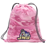 JMU Drawstring Backpack Pink Camo