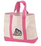 James Madison University Tote Bags Pink
