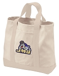 James Madison University Tote Bags NATURAL CANVAS