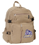 JMU Canvas Backpack Tan