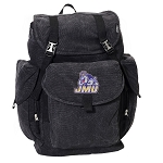 James Madison LARGE Canvas Backpack Black