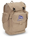 JMU LARGE Canvas Backpack Tan