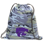 Kansas State Drawstring Backpack Blue Camo