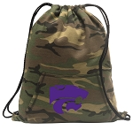 Kansas State Drawstring Backpack Green Camo