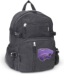K-State Canvas Backpack Black