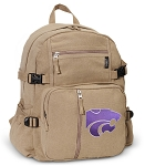 Kansas State Canvas Backpack Tan