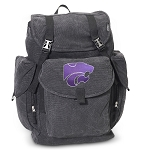 K-State LARGE Canvas Backpack Black
