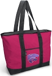 Deluxe Pink Kansas State Tote Bag
