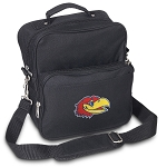 Kansas Jayhawks Small Utility Messenger Bag or Travel Bag