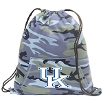 Kentucky Wildcats Drawstring Backpack Blue Camo