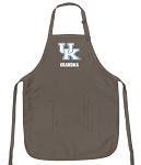 Official Kentucky Wildcats Grandma Apron Tan