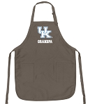 Official Kentucky Wildcats Grandpa Apron Tan