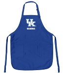 Deluxe Kentucky Wildcats Grandma Apron University of Kentucky Grandma for Men or Women