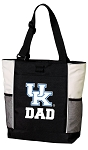 University of Kentucky Dad Tote Bag White Accents