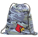 Louisville Cardinals Drawstring Backpack Blue Camo