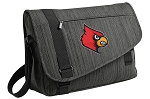 Louisville Cardinals Messenger Laptop Bag Stylish Charcoal