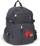 Louisville Cardinals Canvas Backpack Black