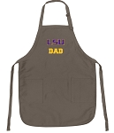 Official LSU Dad Apron Tan