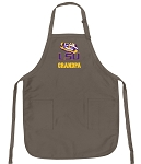 Official LSU Tigers Grandpa Apron Tan