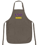 Official LSU Grandma Apron Tan