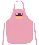 LSU Tigers Grandma Apron Pink - MADE in the USA!