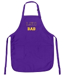 LSU Tigers Dad Apron Purple - MADE in the USA!
