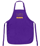 LSU Tigers Grandpa Apron Purple - MADE in the USA!