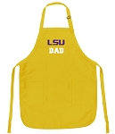 LSU Tigers Dad Apron Yellow - MADE in the USA!