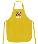 LSU Dad Apron Yellow - MADE in the USA!