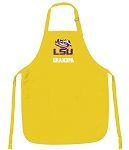 LSU Grandpa Apron Yellow - MADE in the USA!