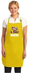 LSU Mom Apron Yellow - MADE in the USA!
