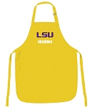 LSU Tigers Grandma Apron Yellow - MADE in the USA!
